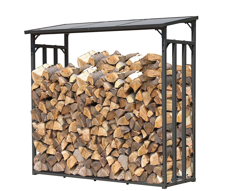 Brennholzregal außen  ᐅ Metall Brennholzregal für draußen ++ Große Holzaufbewahrung für ...