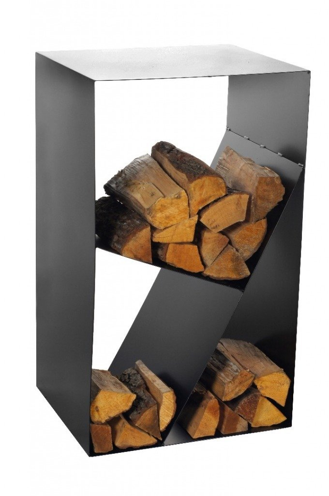 Brennholzregal innenbereich  ᐅ Magnus Kaminholzregal CUBE in schwarz ++ Metall Brennholzregal ...